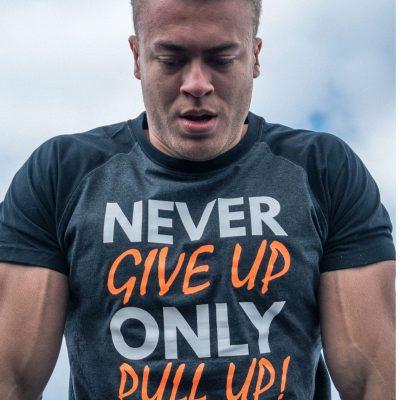 Gornation Never Give Up Shirt Men Orange
