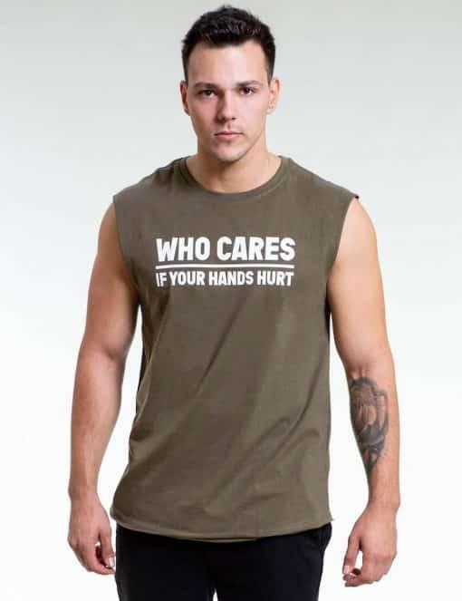 Gornation Who Cares Tank Men Green