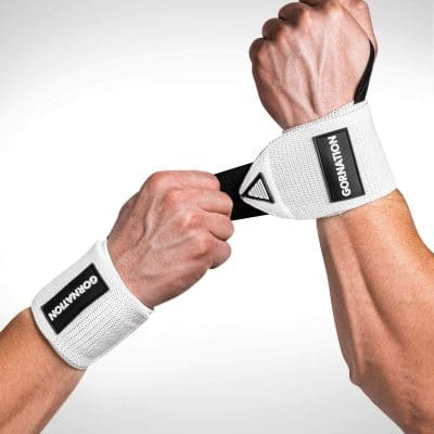 Gornation Power Wrist Wraps White