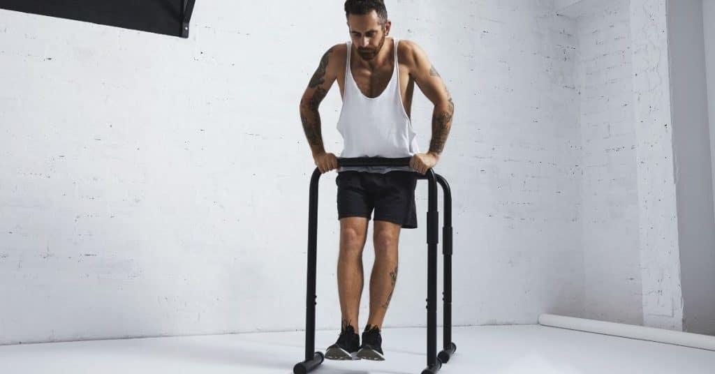 Straight bar dip calisthenics exercises